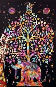 kayso elephant tree tapestry with luck white elephant
