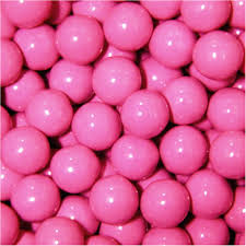 Color Pink by Chocolate Caramel Filled Balls Pink 5lb