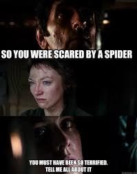 Afraid Of Spiders Meme - scared of spiders memes quickmeme