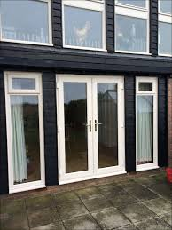 upvc french doors matching full height and other windows by