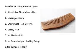 using wood wood combs for healthy hair