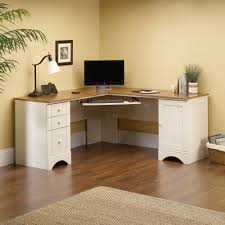 home office corner computer desk antiqued white with american