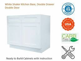 36 3 drawer base kitchen cabinet white shaker kitchen base cabinet drawer door