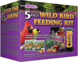 brown u0027s 5 piece wild bird feeding kit f m brown u0027s