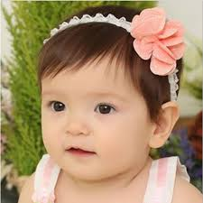 flower hair bands baby girl elastic hair band floral dot flower hair accessories at