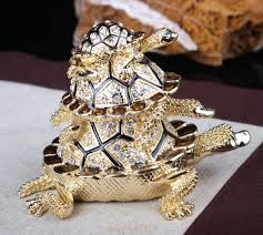 Tortoise Home Decor by Stock Crystal Tortoise Jewelry Trinket Box Gold Metal Craft Home