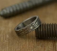 6mm diamond 6mm white diamond rugged textured mens wedding band point no