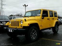 jeep sierra 2015 2015 baja yellow jeep wrangler unlimited rubicon 4x4 99764763