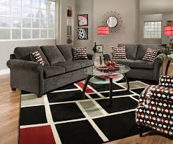 Charcoal Living Room Furniture Reverb Transitional Queen Rolled Arm Sofa Sleeper Walker U0027s
