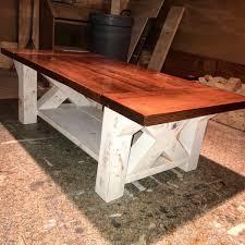 Coffee Table Plans Diy Chunky Farmhouse Coffee Table Diy Woodworking Plans