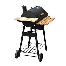 amazon com outsunny backyard charcoal bbq grill and smoker combo