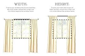 how high to hang curtains 9 foot curtain rod hang curtains up to the ceiling to make a low