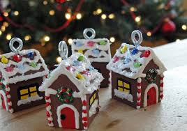 miniature gingerbread house ornaments a tree ornament
