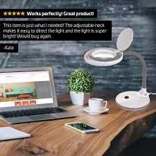 table top magnifying light table top led magnifying l 4 lens 3 diopter by newhouse lighting