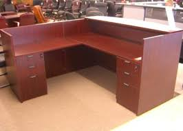 L Shaped Reception Desk Mahogany L Shape Reception Desk Ofco Office Furniture
