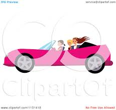 pink convertible jeep clipart happy woman driving a pink convertible with her friends in