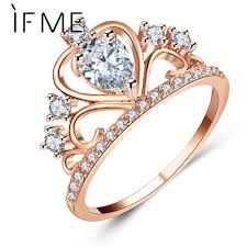 Crown Wedding Rings by Online Buy Wholesale Engagement Crown Rings From China Engagement