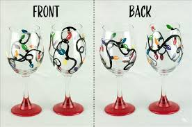 christmas lights decorative wine glasses set of 2 wednesday