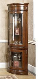 Wood Display Cabinets With Glass Doors American Style Solid Wood Corner Cabinet Display Cabinet Fashion