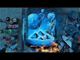 Spray Paint Artist - ancient space spray paint art by skech youtube