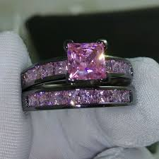 black and pink wedding ring sets best 25 black gold rings ideas on black gold wedding