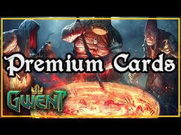 premium cards gwent twcg