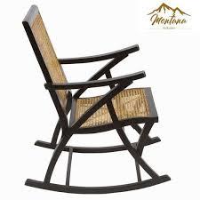 chaise a chaise à bascule en rotin montana