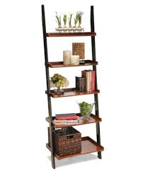 Leaning Shelf Bookcase Convenience Concepts French Country Bookshelf Ladder Hayneedle