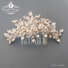 pearl hair comb bethan hc14 swarovski and pearl hair comb