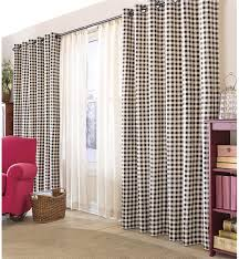 Drapes Grommet Top Thermalogic Check Curtains 84