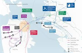 Bart System Map by Multi Agency Study Examines Transit Needs In San Francisco U0027s