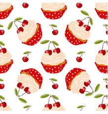 set of cupcake sketch on white royalty free vector image
