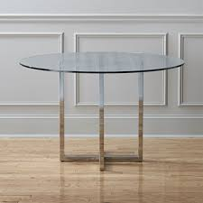 chrome round dining table round dining tables cb2