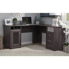 L Shaped Desk Bush Cabot L Shaped Desk Walmart