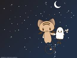 cat halloween wallpaper momocheet and bu wallpaper by lafhaha on deviantart