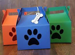 paw boxes paw patrol favor boxes doggie boxes bone tag
