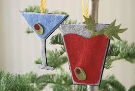 note diy no sew cocktail ornaments