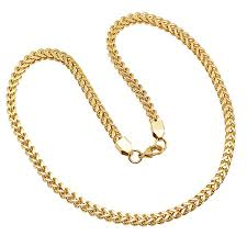 necklace steel images Mens 18k gold over stainless steel 24 inch chain necklace jcpenney