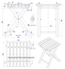 Wood Furniture Plans Free Download by Folding Stool Plan Assembly 2d Drawing Crafts Pinterest