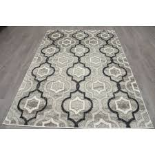 Gray Moroccan Rug B281 Grey And Black Maya Trellis Moroccan Rug At Home At Home