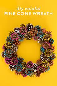 pine cone wreath diy colorful pine cone fall wreath hearts