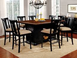 sabrina black counter dining set andrew s furniture and mattress sabrina black 9 piece counter height dining set