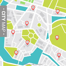 map vector city map background with pointers vector free