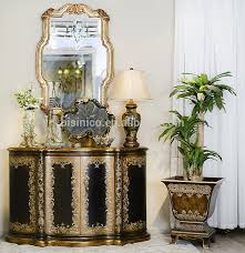 Front Hallway Table Classical Painting Furniture Wooden Console Table Luxury