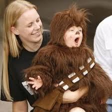 Star Wars Halloween Costumes Babies Mini Wookie Baby Chewbacca Onesie Light Yellow 6 Month Check