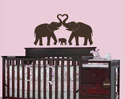 Large Nursery Wall Decals Baby Nursery Wall Decal Elephant Wall Decal Elephant