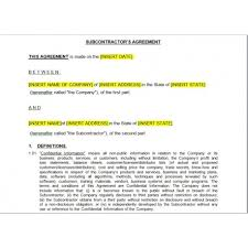 subcontractors agreement law4us