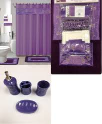 Purple Bathroom Ideas 22pc Bath Accessories Ceramic Set Beverly Purple Bathroom Rugs