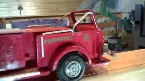 Vintage Ford Truck Decals - 1955 doepke model pumper fire truck original paint and decals
