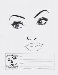 makeup by angel blank face charts face charts pinterest